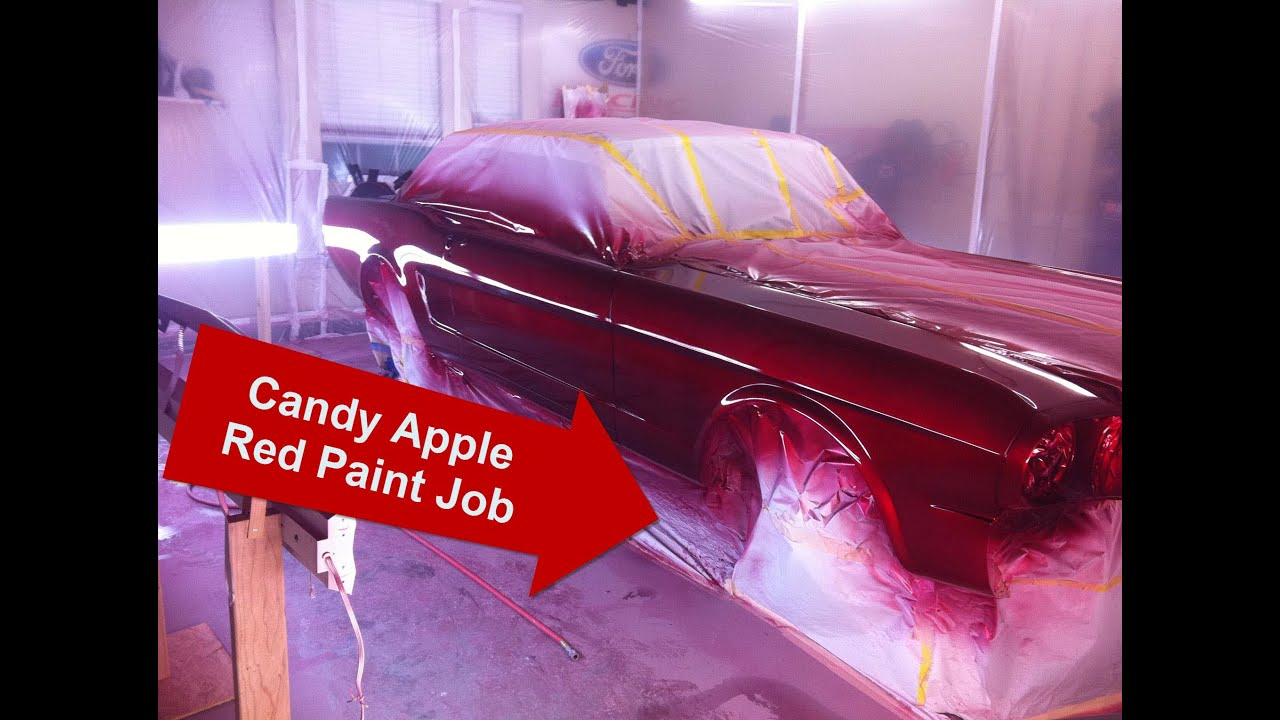 Candy Apple Red Mustang Paint Job - It's painted! - Turbo ...