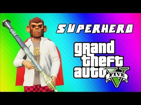Thumbnail: GTA 5 Superhero Tryouts & Online Funny Moments (NEXT, Trains, Car Bomb, Poo Mechanic, Banana Bus)