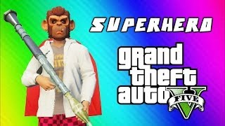 GTA 5 Superhero Tryouts & Online Funny Moments (NEXT, Trains, Car Bomb, Poo Mechanic, Banana Bus)