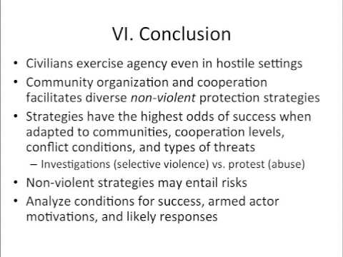 Oliver Kaplan - How Communities Use Nonviolent Strategies to Avoid Civil War Violence