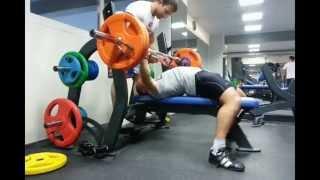 Жим лежа Сас Олег 100кг на 25 повторений/вес 74кг Sas Oleg 100kg Bench Press 25 reps / weight 74kg