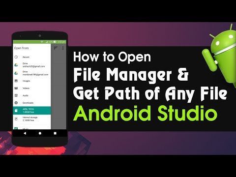 Android Studio Tutorial How To Open File Manager And Get Path Of Any File