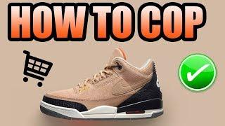 How To Get The BIO BEIGE JTH 3 !   Bio Beige JTH Jordan 3 Release Info !