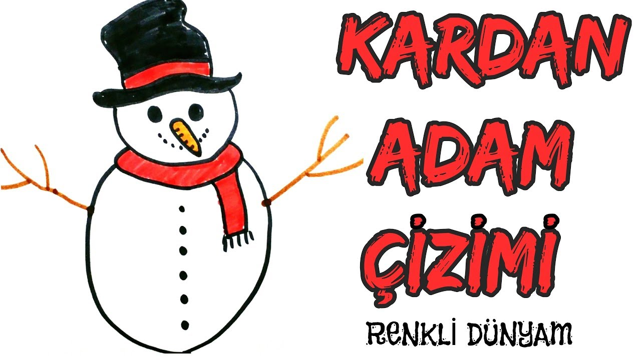 Kardan Adam Nasil Cizilir Kardan Adam Cizimi How To Draw A