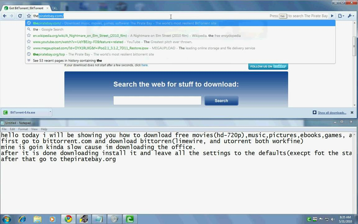 How to download HD movies, software, music, tv shows, games and ebooks