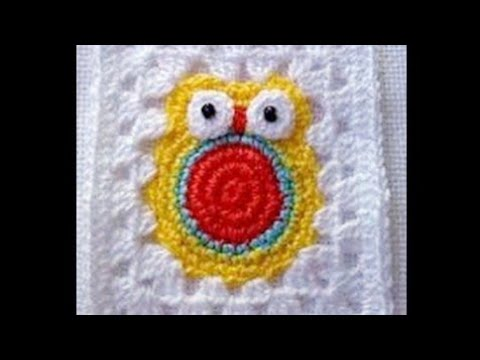 Crochet Stitches Granny Square Youtube : Crochet Granny Square Owl - YouTube