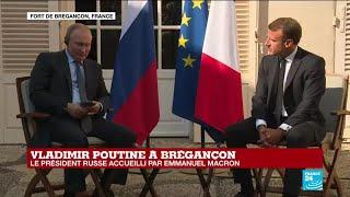 REPLAY - Allocution du président russe Vladimir Poutine à Brégançon