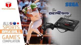 All Sega Genesis/mega Drive Baseball Games Compilation - Every Game  Us/eu/jp/br