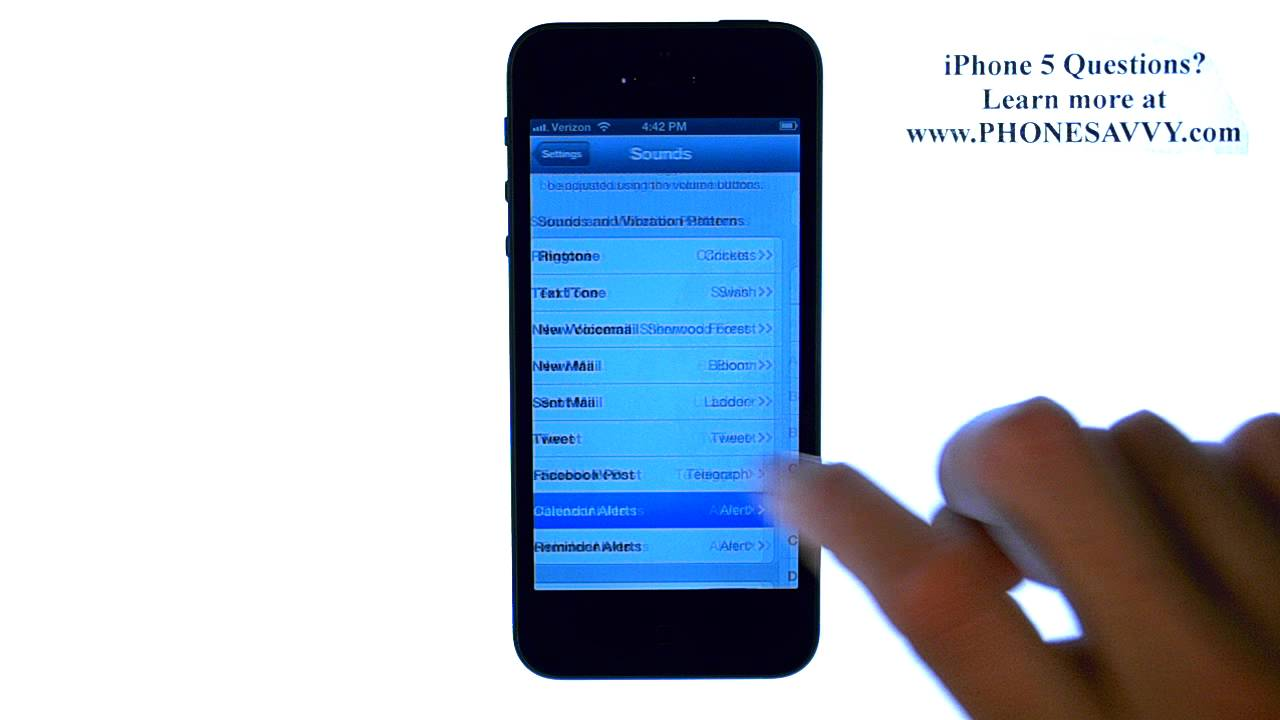 apple iphone 5 ios 6 how to change calendar alert and reminder tone youtube