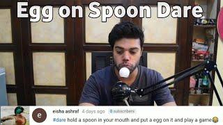 Egg on Spoon challenge for Ducky Bhai 😜 | Ducky Bhai Dare