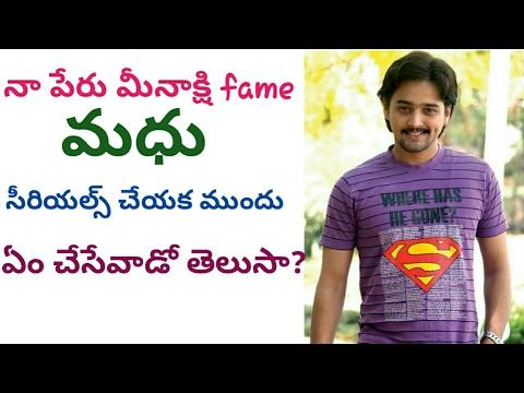 DO YOU Know What He Done Before Serials Na Peru Meenakshi Fame Madhu/Actor Madhu/ Telugu Poster