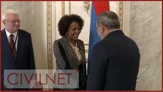 La Secrétaire générale de la Francophonie, Michaëlle Jean, en visite en Arménie