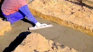 Building A House Step By Step. Full Hd. Step 1. Ground Works, Concrete Sleepers.mp4