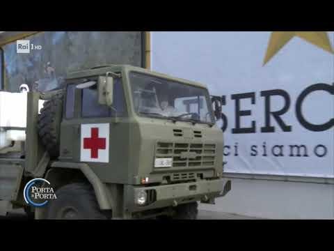 L'ospedale da campo di Piacenza - Porta a porta 01/04/2020