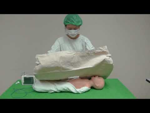 การสาธิตการใส่ Umbilical vein catherization