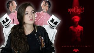 Marshmello x Lil Peep - Spotlight (REACTION)