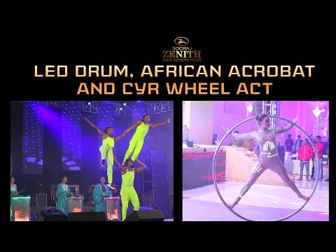 Drum Act With African Acrobat & CYR Wheel | Zenith Dance Troupe | India