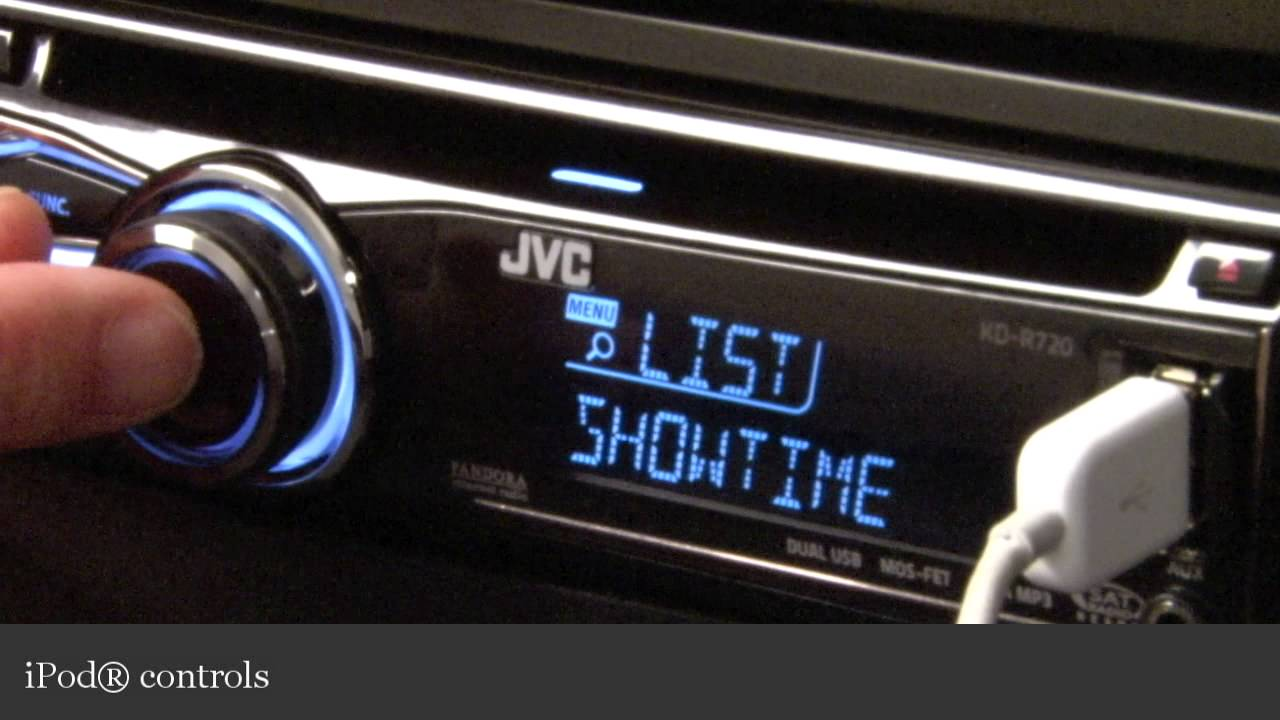 jvc kd r720 car receiver display and controls demo crutchfield JVC Receiver youtube premium