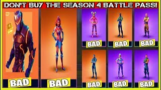 WHY YOU SHOULDN'T BUY THE SEASON 4 BATTLE PASS! (Fortnite Battle Royale!)