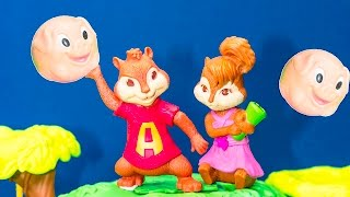 ALVIN AND THE CHIPMUNKS Nickelodeon Alvin + Chipettes King of the Tree House Toys Video