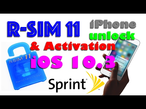 R-SIM 11 & iOS 10.3 / 10.2.1 iPhone Activation & Unlock