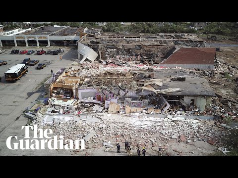 Aerial footage shows scale of destruction after tornado in Dayton, Ohio