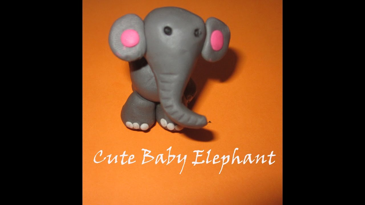 How To Make A Clay Elephant For Kids Baby Elephant Clay