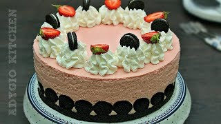 Tort fara coacere cu fructe si biscuiti Oreo reteta rapida | AdyGio Kitchen
