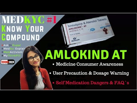AMLOKIND AT - Blood Pressure Medicine - ( Amlodipine & Atenolol ) Review By  Dr Rupal #MedKYC 1
