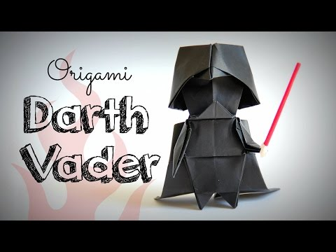 How to make an origami Darth Vader (Star Wars)