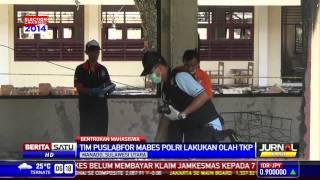 Pasca Bentrok, Polisi Olah TKP Fakultas Teknik Unsrat