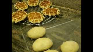How to bake belgian waffles with belgian pearl sugar
