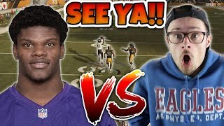 LAMAR JACKSON vs YOBOY PIZZA Trash Talking Forfeit!! Madden 19 #2