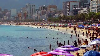 Rio de Janeiro beaches crowded as Brazil tackles new variant