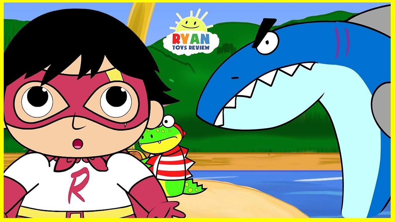 cartoon ryan shark animation children pirate adventure