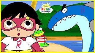 Ryan Piraten-Abenteuer mit Hai-Cartoon-Animation für Kinder!