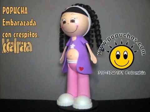 Fofucha Embarazada Fofuchas en foamy 3D - YouTube
