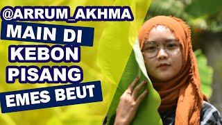 Arrum Akhma Photoshoot! Main Sama Cewek Hijab Di Kebun Pisang