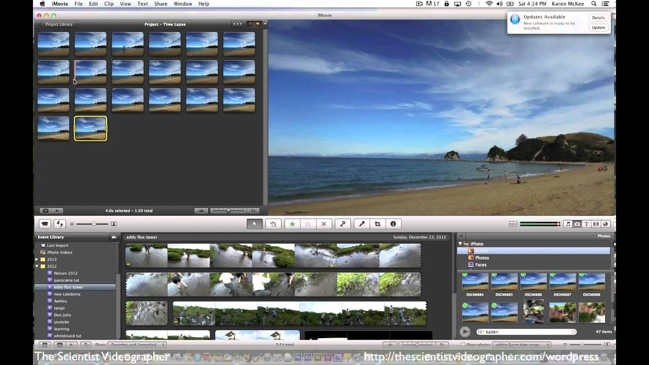 how to get still from imovie