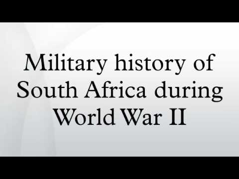 Military history of South Africa during World War II