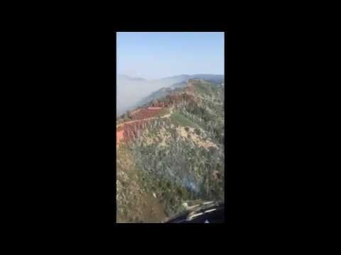 Aerial Video of Steep Rugged Terrain above Big Sur and Monterey, California