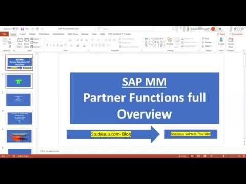 SAP MM--Partner Functions Full Configuration For Vendor Master And Purchasing Documents--PO/Contract