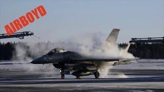 F-16 De-Icing At Kallax Air Base, Sweden