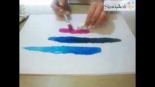 Iniciación a la pintura: Difuminado de colores