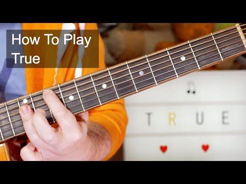 'True' Spandau Ballet Acoustic Guitar Lesson