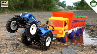 Tractors Truck container vs New Holland Tractors | Kids Tractor Video