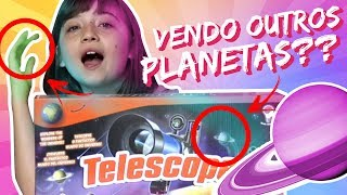 🌎 LULI VIROU ASTRÔNOMA!?? 👩🚀 |  🎁 Unboxing de Brinquedo: Science4you:Telescópio Infantil 🚀