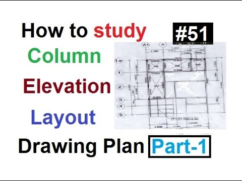Drawing study elevation,layout of column in Urdu/Hindi