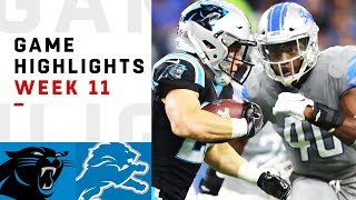 Panthers vs. Lions Week 11 Highlights | NFL 2018