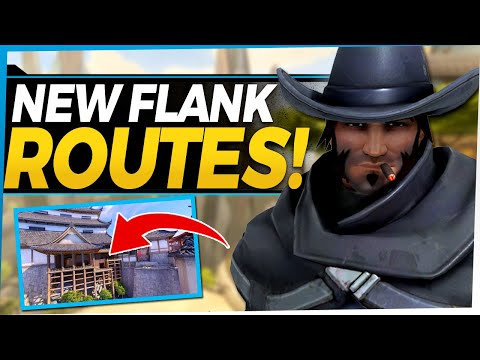 Overwatch NEW McCree Flanks and Shortcuts! Powerful New Tricks with Buffed Roll Ability